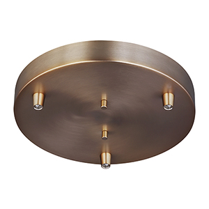 Towner Satin Bronze 10-Inch Three-Light Pendant Canopy