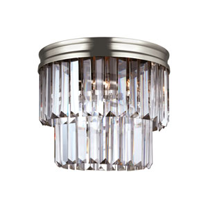 Carondelet Antique Brushed Nickel Energy Star Two-Light LED Flush Mount