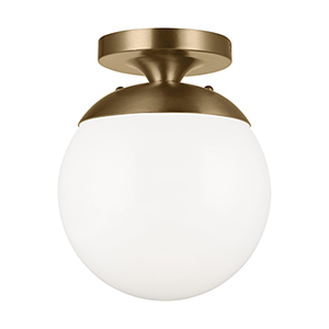 Leo Hanging Globe Satin Bronze One-Light Semi Flush Mount