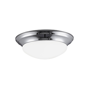 Nash Chrome 12-Inch LED Flush Mount