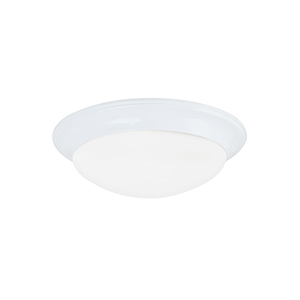 Nash White 12-Inch LED Flush Mount