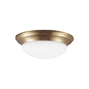 Nash Satin Bronze 12-Inch LED Flush Mount