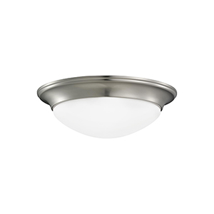 Nash Brushed Nickel 12-Inch LED Flush Mount