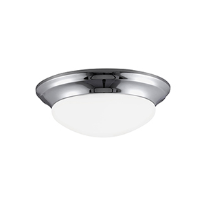 Nash Chrome 14-Inch LED Flush Mount
