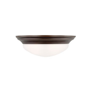 Nash Bronze Two-Light Ceiling Flush Mount with LED Bulbs