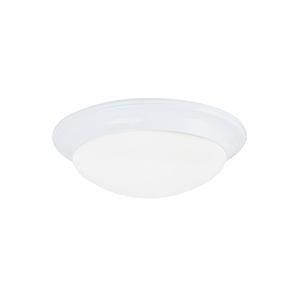 Nash White 17-Inch LED Flush Mount