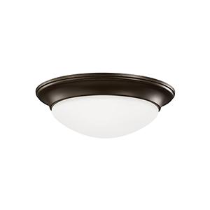 Nash Heirloom Bronze 17-Inch LED Flush Mount
