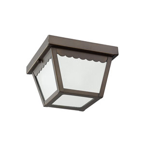 Outdoor Ceiling Antique Bronze Energy Star LED Outdoor Ceiling Flush Mount