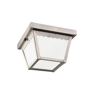 Outdoor Ceiling Antique Brushed Nickel Energy Star LED Outdoor Ceiling Flush Mount