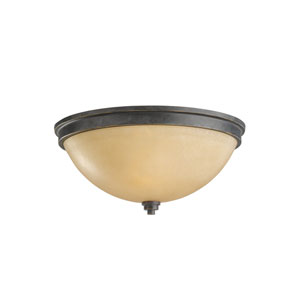 Roslyn Flemish Bronze Energy Star Two-Light LED Flush Mount