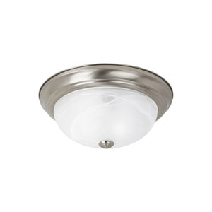 Windgate Brushed Nickel Energy Star Two-Light LED Flush Mount