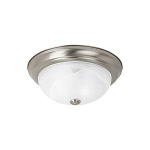 Windgate Brushed Nickel Energy Star Two-Light LED Flush Mount