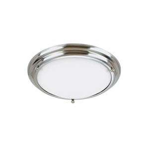 Centra Brushed Stainless Energy Star Three-Light LED Flush Mount