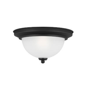 Geary Midnight Black One-Light Ceiling Flush Mount without Bulb