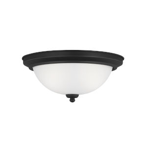 Geary Midnight Black Two-Light Ceiling Flush Mount without Bulbs