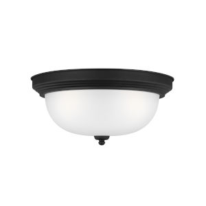 Geary Midnight Black Three-Light Ceiling Flush Mount without Bulbs