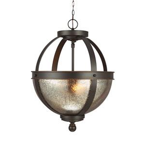 Sfera Autumn Bronze Energy Star Two-Light LED Convertible Pendant with Mercury Glass
