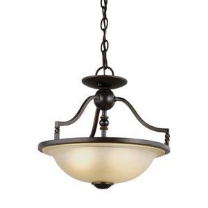Trempealeau Roman Bronze Energy Star Two-Light LED Convertible Pendant