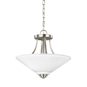 Parkfield Brushed Nickel Energy Star Two-Light LED Convertible Pendant