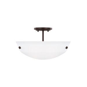 Kerrville Bronze Two-Light Semi-Flush Convertible Pendant without Bulbs