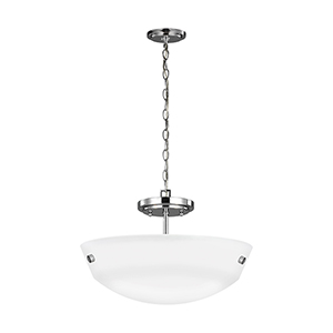 Kerrville Chrome Energy Star 15-Inch Two-Light Convertible Pendant