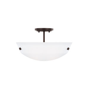 Kerrville Bronze Two-Light Semi-Flush Convertible Pendant with LED Bulbs