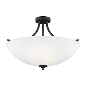 Geary Blacksmith 25-Inch Four-Light Semi Flush Mount