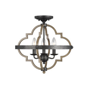 Socorro Stardust Three-Light Semi-Flush Mount Energy Star