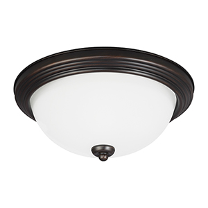 Burnt Sienna 11-Inch LED Flush Mount
