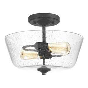 Morill Blacksmith 15-Inch Two-Light Semi Flush Mount