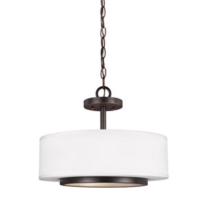 Nance Heirloom Bronze Energy Star Two-Light LED Convertible Pendant