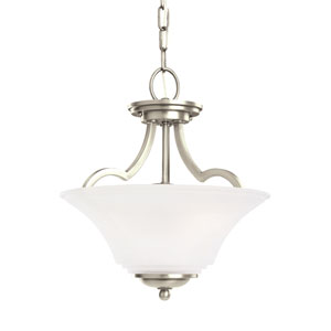 Somerton Antique Brushed Nickel Energy Star Two-Light LED Convertible Pendant