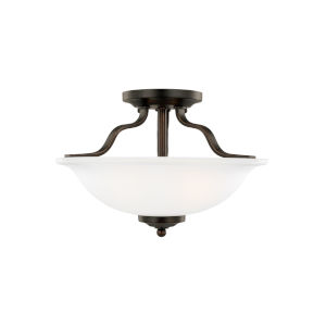 Emmons Bronze Two-Light Semi Flush Mount without Bulbs