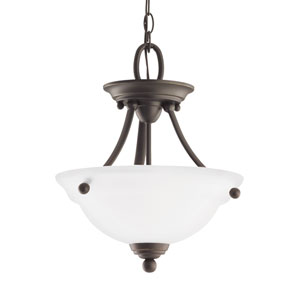 Wheaton Heirloom Bronze Energy Star Two-Light LED Convertible Pendant