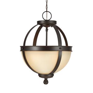 Sfera Autumn Bronze Energy Star Two-Light LED Convertible Pendant with Café Tint Glass