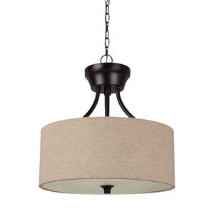 Stirling Burnt Sienna Energy Star Two-Light LED Convertible Pendant