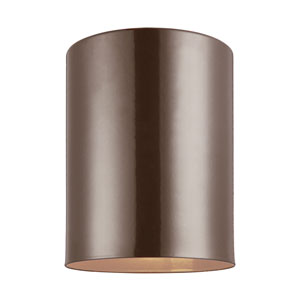 Outdoor Cylinders Bronze Energy Star Five-Inch LED Outdoor Ceiling Flush Mount
