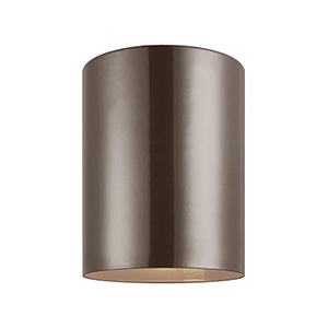 Outdoor Cylinders Bronze Five-Inch LED Outdoor Flush Mount