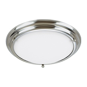 Centra Brushed Stainless 21-Inch LED Flush Mount