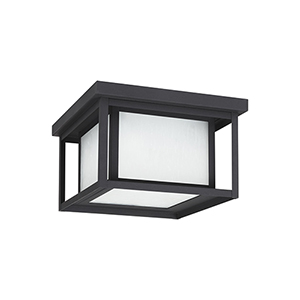 Hunnington Black 10-Inch LED Outdoor Flush Mount