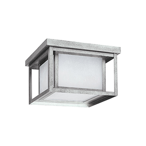 Hunnington Weathered Pewter 10-Inch LED Outdoor Flush Mount