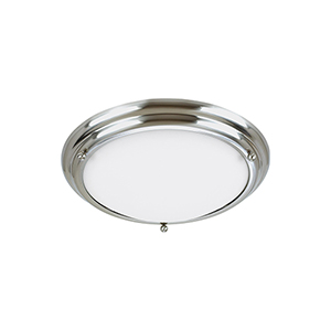 Centra Brushed Stainless 15-Inch LED Flush Mount