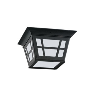 Herrington Black Energy Star Two-Light LED Outdoor Ceiling Flush Mount