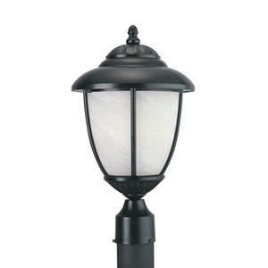 Yorktown Black Energy Star LED Outdoor Post Lantern