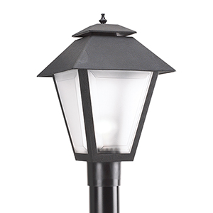 Polycarbonate Outdoor Black 11-Inch One-Light Outdoor Post Lantern