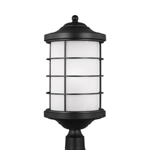Sauganash Black Energy Star LED Outdoor Post Lantern