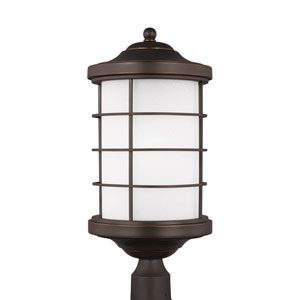 Sauganash Antique Bronze Energy Star LED Outdoor Post Lantern