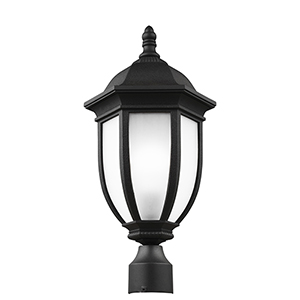 Galvyn Black 10-Inch One-Light Outdoor Post Lantern