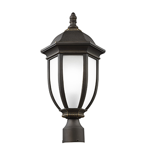 Galvyn Antique Bronze Energy Star 10-Inch One-Light Outdoor Post Lantern