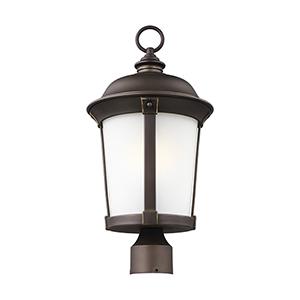 Calder Antique Bronze 10-Inch One-Light Outdoor Post Lantern